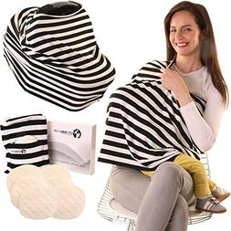 Nursing Cover Scarf for Breastfeeding, Inc. 6 Nursing Pads.