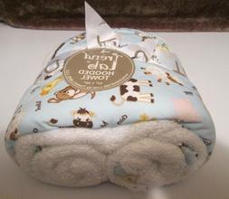 Trend Lab 102635 Bouquet Hooded Towel - Baby Barnyard