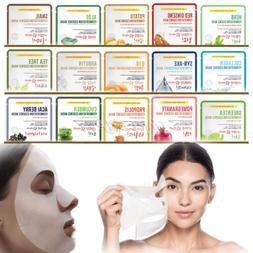 10pcs Korean Facial Skin Care Mask Sheet Moisture Essence Fa