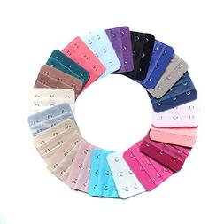 TOPWEL 2'' x 2.2'' Assorted Colors Women 3-Hook 3 Rows Spaci