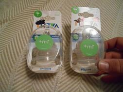 2 Packages Philips Avent Airflex Nipples, slow flow, 1 month