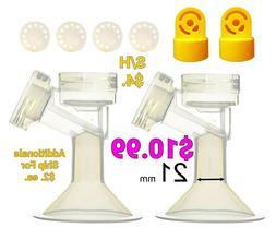 21 mm 2xOne-Piece Small Breastshield w/ Valve and Membrane f