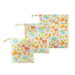 3 Packs Giraffe Wet Dry Bag Baby Cloth Diaper Nappy Bags Reu