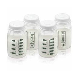 4 Ounce, BPA Free, Polypropylene Milk Storage Bottles, 4 Pac