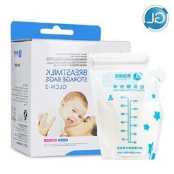 96pcs Baby Breast Milk Food Storage 250ml BAP Free Disposabl