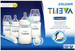 Avent - Classic+ Newborn Starter Set Kit - Bottles, Brush &