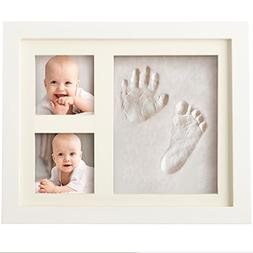 Bubzi Co Baby Handprint Kit & Footprint Photo Frame for Newb