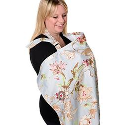 BEST LARGE Nursing Cover for Breastfeeding - Breathable Orga