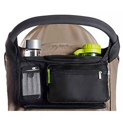 BEST STROLLER ORGANIZER for Smart Moms, Premium Deep Cup Hol