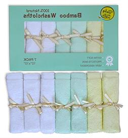 Baby Zelis 7-Piece Natural Bamboo Baby Washcloths