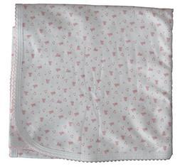 Kissy Kissy Baby-Girl Infants Hearts and Stars Print Blanket