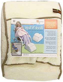 Leachco Rock N Soft Cushioned Nursing Stool, Ivory