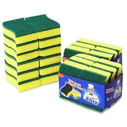 MR. SIGA Heavy Duty Scrub Sponge, 24 Count, Size:11 x 7 x 3c