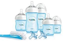 Philips Avent Natural Infant Baby Bottle Starter Set, Blue