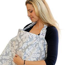 Nursing Cover+Wet Day Bag, QUNQI STAR Breast Feeding Nursing