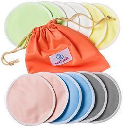 Reusable Nursing Pads 12 Pack | Organic Bamboo | Laundry & T