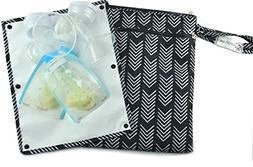 Sarah Wells Pumparoo for Breast Pump Parts, Wet Dry Bag with