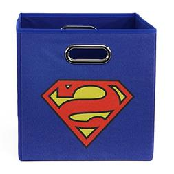 Superman Logo Folding Storage Bin, Blue