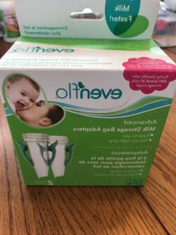 Evenflo Advanced Breast Milk Storage Bag Adapters - 2 pack