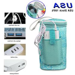 Baby Bottle Warmer USB Heating Insulated Bag Travel Cup Port