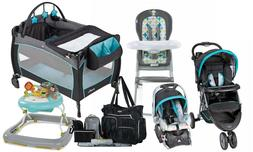 Baby Boy Stroller with Car Seat Travel Set Playard High Chai
