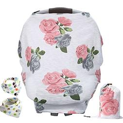 YIHANG Baby Car Seat Cover & Drawstring Carry Bag Shower Gif