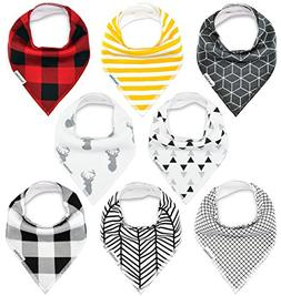 Baby Bandana Drool Bibs, for Drooling and Teething Unisex 8