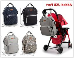 Big Size Diaper Bag Backpack With Anti-theft USB Port Waterp