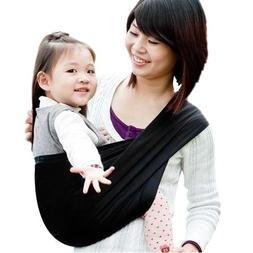 Ecloud ShopUS Black Cotton Baby Kids Toddler Sling Carrier W