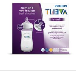 Philips Avent Natural Baby Bottle, Clear, 11oz, 2pk, SCF016/
