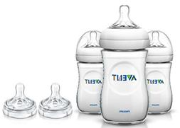 Philips AVENT 3 Count BPA Free Natural Polypropylene Bottle