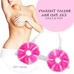 Breast Hot & Cold Therapy Gel Pad Bra for Breastfeeding Reli