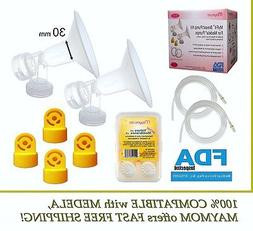 Maymom Breast Pump Accessory Set for Medela Pump in Style Pu