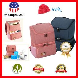 Breast Pump Backpack Insulated Milk Cooler Bag Mommy Baby Wa