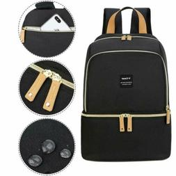 Breast Pump Bag Backpack - Cooler and Moistureproof Bag Doub