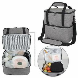 Luxja Breast Pump Bag with 2 Insulated Compartments for Brea