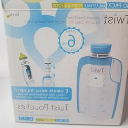 Breast Pump Kiinde Milk Storage 54 Twist Pouch 6 Oz Pack Bre