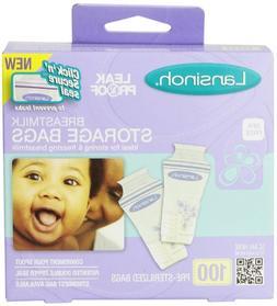 Lansinoh Breastmilk Storage Bags - 100 ct - 3 Pk