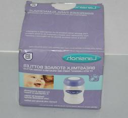 NEW Lansinoh Breastmilk Storage Bottles - 2 Boxes - 8 bottle