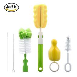 6 in 1 Bottle Brush Cleaner Kit, Cleaning Brush Set for Cups