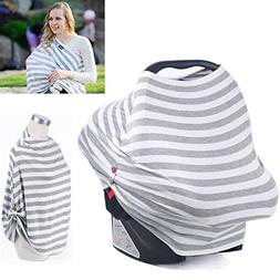 Car Seat Canopy For Infant Baby with Breathing Botton & Nurs