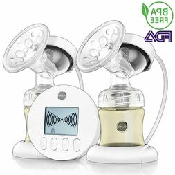 Hospital Grade Double Electric Breast Pump & 2 Milk Bottle F