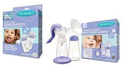 Lansinoh Comfort Express Manual Breast Pump with Milk Storag