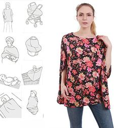 360° Full Coverage Multi Use Stretchy Nursing Cover Up For