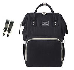 Baby Bag Diaper Backpack Breast Pump Bag with Stroller Strap
