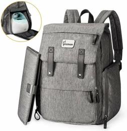 Momcozy Diaper Bag with breast pump storage