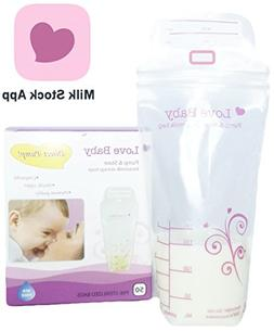 Direct-Pump Breastmilk Storage Bags with BreastMilk Manageme