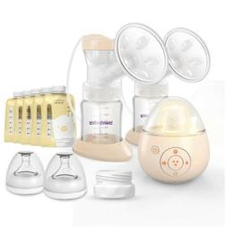 Double Electric Breast Pump, Yunbaby S19 Portable Breastfeed