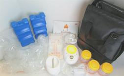 MADENAL Double Electric Breast Pump Travel Set, Ice Pack Coo