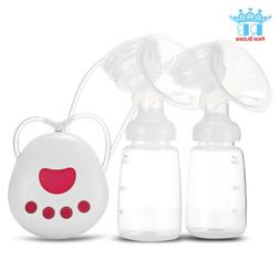 Double LCD Electric Breast Pump w/ Milk Bottle Infant Adjust